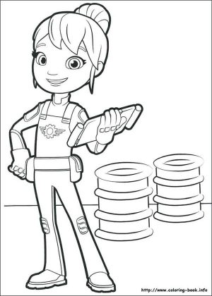 Blaze and the Monster Machines Coloring Pages Gaby with Her Checklist Book