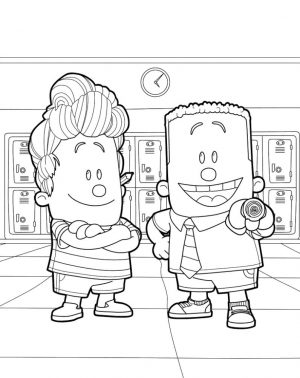 Captain Underpants Coloring Pages Free 772n