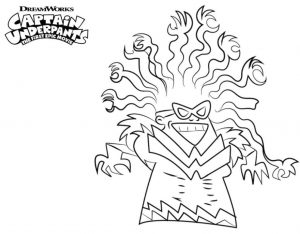 Captain Underpants Coloring Pages Online 550y