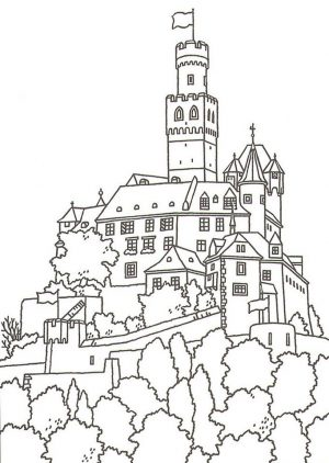 Castle Coloring Pages Printable – 2bs81