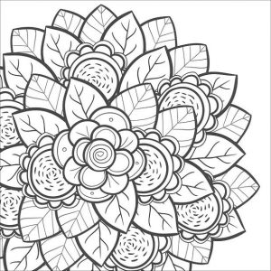 Coloring Pages Cool Designs for Teenagers Flower Stacks