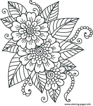 Coloring Pages for Teenage Girl Easy Simple Flower Pattern