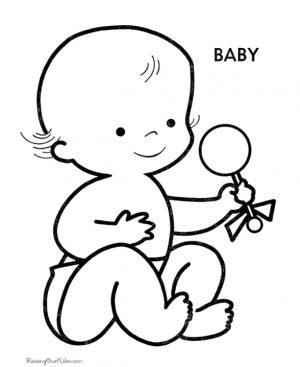Coloring Pages of Baby Free Printable – f74nc
