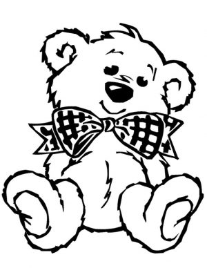 Coloring Pages of Teddy Bear for Toddlers – 15sf4