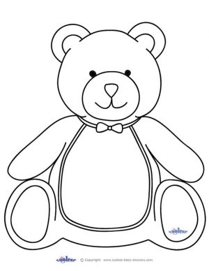 Coloring Pages of Teddy Bear for Toddlers – y56sm