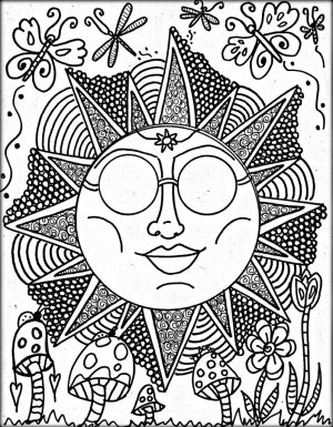Cool Trippy Coloring Pages for Grown Ups – PLD72
