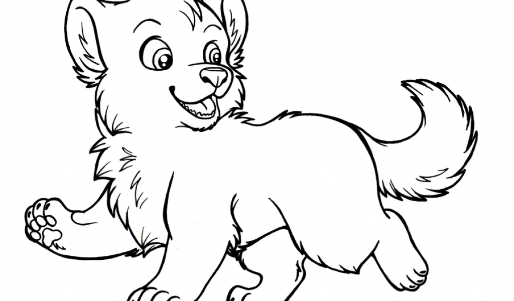 Get This Cute Baby Wolf Coloring Pages - 47751