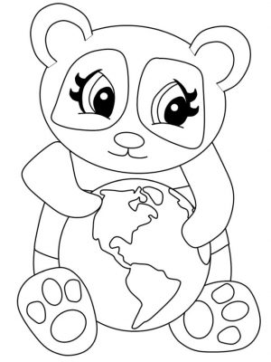 Cute Panda Coloring Pages for Kindergarten
