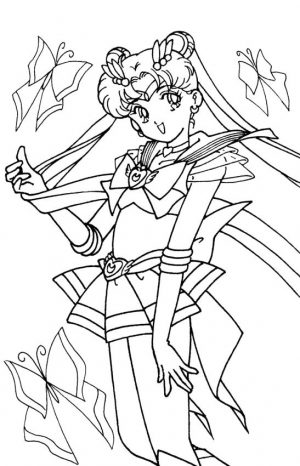 Cute Sailor Moon Coloring Pages Usagi Loves You