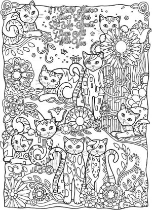 Cute and Hard Coloring Pages Cat Doodles