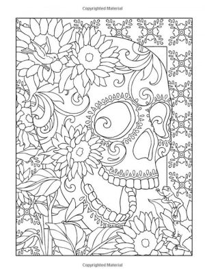 Day of the Dead Coloring Pages – Hard Coloring for Adults – 94617