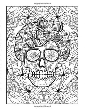 Day of the Dead Coloring Pages – Hard Coloring for Adults – ycv31