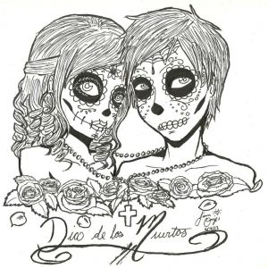 Day of the Dead Coloring Pages Online Printable – 85194