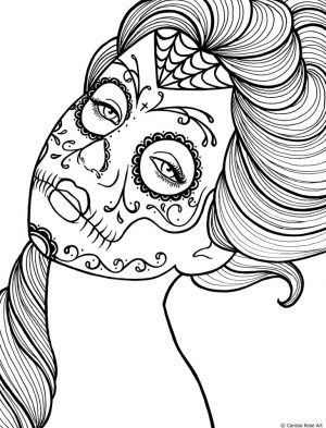 Day of the Dead Coloring Pages Online Printable – cav53