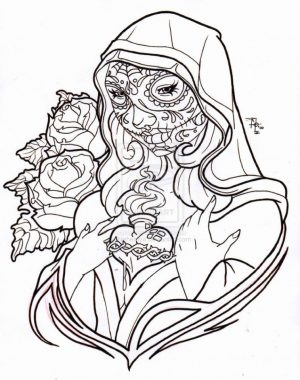 Day of the Dead Coloring Pages Online Printable – tdf31
