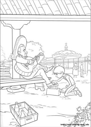 Disney Coco Coloring Pages Free Coco Cleaning Shoes