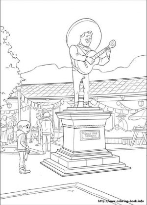 Disney Coco Coloring Pages Free Ernesto Statue