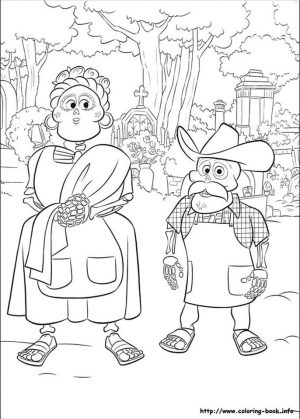 Disney Coco Coloring Pages Free Old Folks