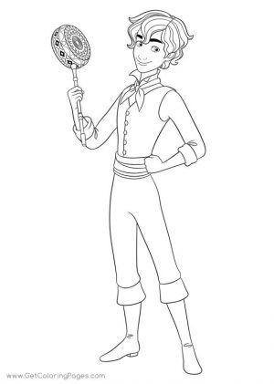 Disney Elena of Avalor Coloring Page Mateo Looking Proud