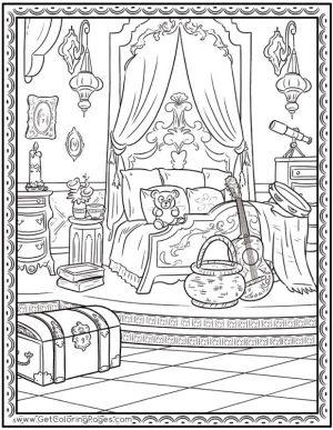 Disney Elena of Avalor Coloring Page Princess Bedroom