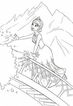 Disney Queen Elsa Coloring Pages Frozen – 09341