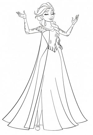 Disney Queen Elsa Coloring Pages Frozen – 61729