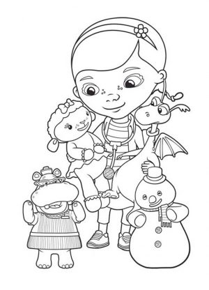 Doc McStuffins Coloring Pages Free cre5