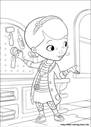 Doc McStuffins Coloring Pages lab4