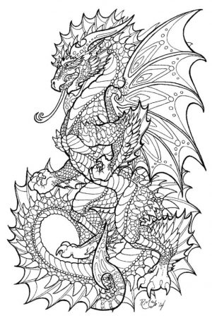 Dragon Coloring Pages for Adults Printable – 6sm40