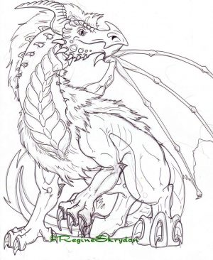 Dragon Coloring Pages for Adults Printable – u3c61