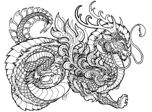 Dragon Coloring Pages for Adults Printable – wuv7q