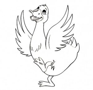 Duck Coloring Pages Duck Dancing with Joy