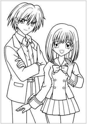 Easy Anime Coloring Pages Free Printable