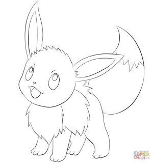 Eevee Coloring Pages 1tr3