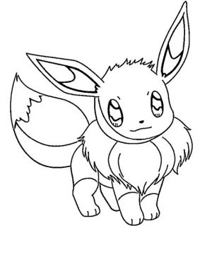 Eevee Coloring Pages Printable 9kd1