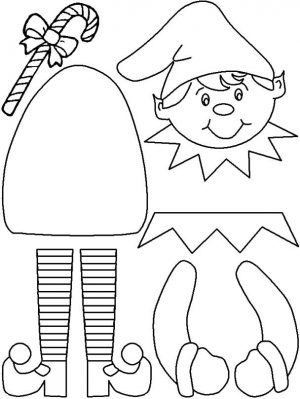 Elf on the Shelf Coloring Pages Free Christmas Elf Craft Printable
