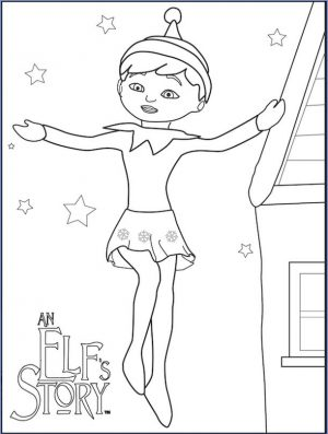 Elf on the Shelf Coloring Pages Free Girl Elf in An Elfs Story