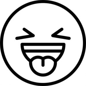 Emoji Coloring Pages Black and White Embarrassed Face