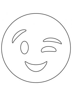Emoji Coloring Pages Smiley Winking Emoji