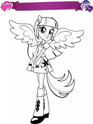 Equestria Girls Coloring Pages Twilight Sparkle