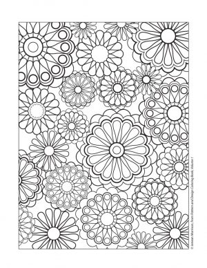 Flower Design Coloring Pages – 26171