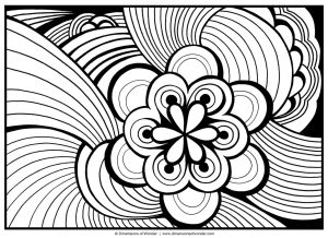 Flower Design Coloring Pages – 4cbtn