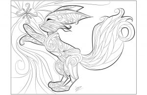 Fox Coloring Pages adults printable – 83784