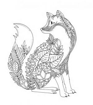 Fox Coloring Pages for Adults Free – 33vsg