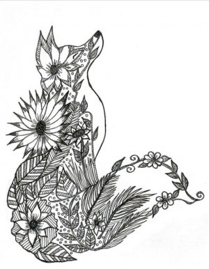 Fox Coloring Pages for Adults Free – 3nx71