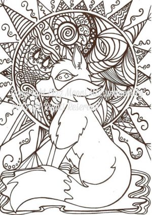Fox Coloring Pages for Adults Free – 91127