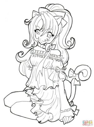 Free Anime Girl Coloring Pages oy74