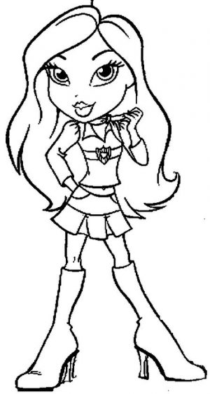 Free Bratz Coloring Pages to Print for Girls – 67sg4