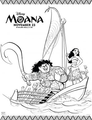 Disney Princess Moana Coloring Pages