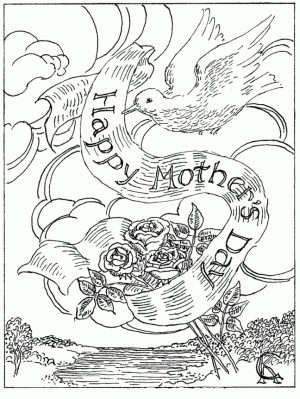Free Mother's Day Coloring Pages for Adults to Print Out – 46031